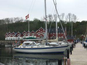 Norina im Hafen Dyvig